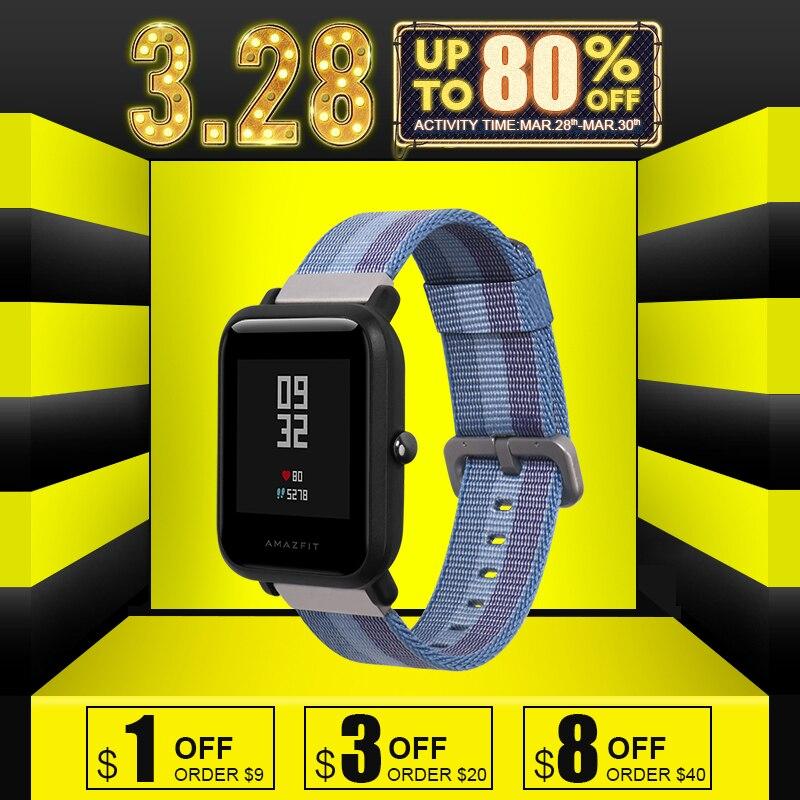 SIKAI 20mm Universale di Ricambio Braccialetto di Nylon Per Xiaomi Huami Aamazfit Band Strap Per 20mm Braccialetti di Modo Della Vigilanza Smartwatch