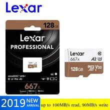 원래 lexar 128 gb 마이크로 sd sdxc UHS I 메모리 카드 고속 최대 100 메터/초 class10 667x 카타오 드 memoria tf/sd 플래시 카드