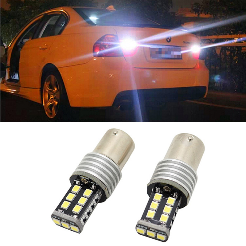 2pcs P21W BA15S LED canbus 2835 15SMD car styling Backup Reverse Light For BMW E30 E36 E46 meziere wp101b sbc billet elec w p