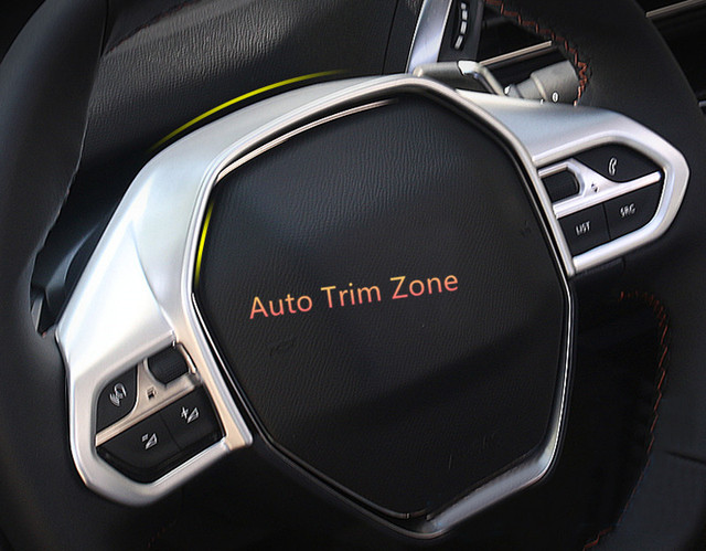 1 pcs interior abs matte cobertura de volante guarni o for 3008 gt interior