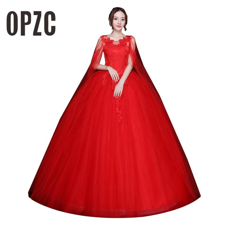 Red Hot Sale Free Shipping Elegant Beautiful Illusion Ball Gown Wedding Dresses vestidos de noiva robe