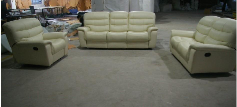 2015 sala de estar sofá moderno sofá reclinable sofá de cuero con - Mueble - foto 2