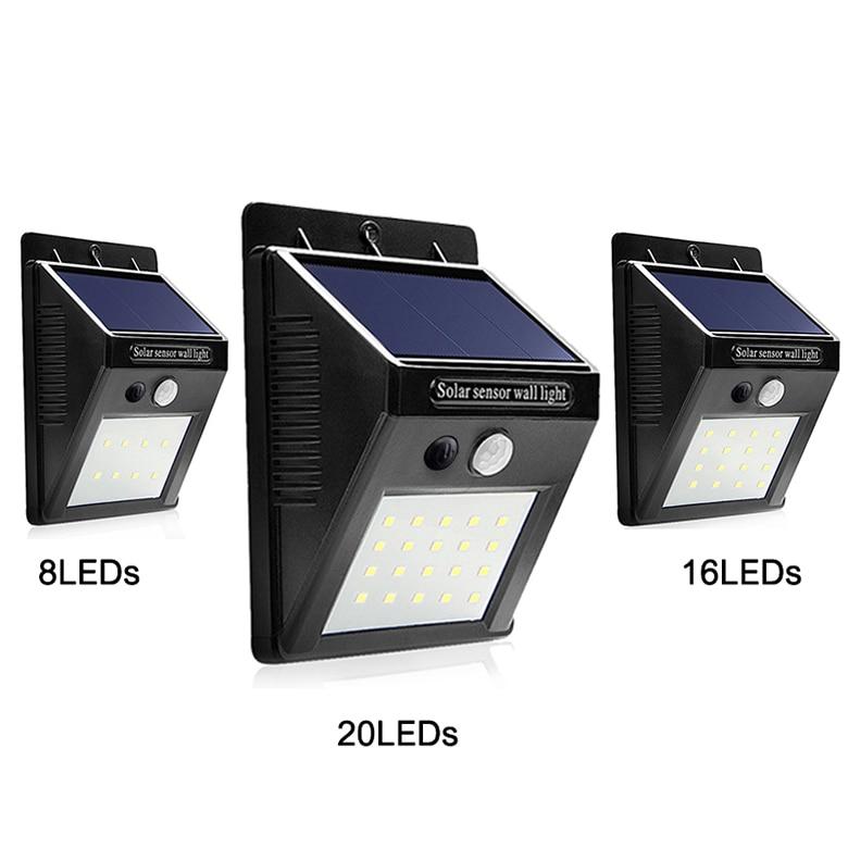 LED Solar Light Outdoor Sensor Night Lights Garden Solar Lamp PIR Motion Sensor Waterpro ...