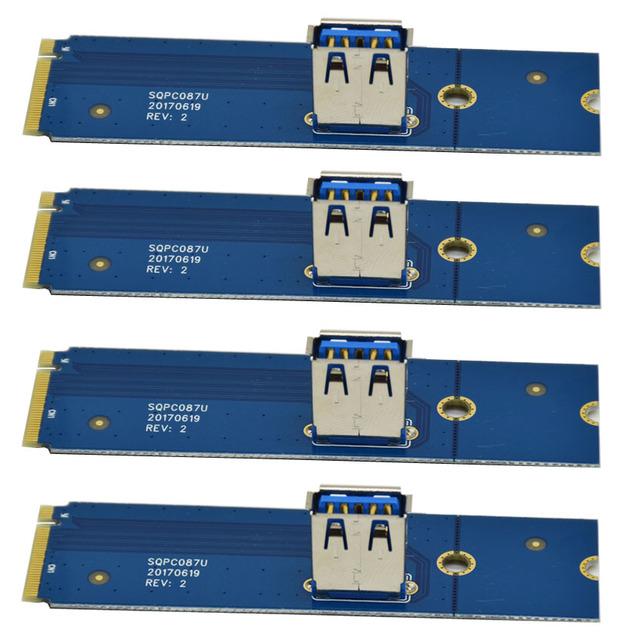 CNIKESIN M.2 NGFF to PCI-E X16 Slot Transfer Card Mining Pcie Riser Card VGA Extension Line