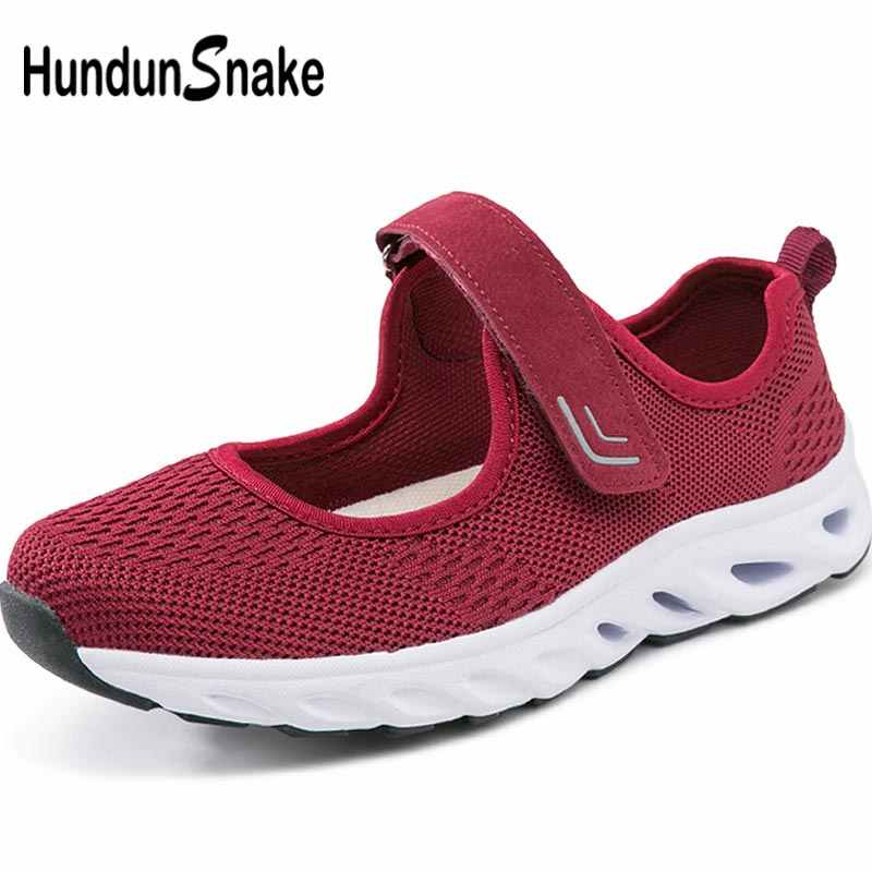 Hundunsnake Summer Women's Sneakers Red Running Shoes Women Sport Shoes Woman Sports Shoes Female Mesh Trainers Lady Walk B-064