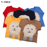 V TREE Spring Children S Sweater Cartoon Lion Pullover For Baby Boys Sweaters Girls Cardigan Toddler