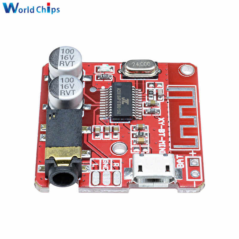 Tablero de decodificador Bluetooth MP3 altavoz de Audio para coche sin pérdida Placa de amplificador de Audio modificado Bluetooth 4,1 circuito estéreo receptor Módulo 5V