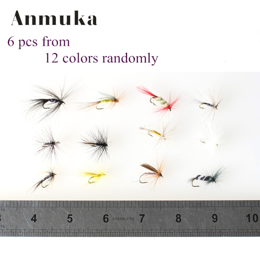 6pcs/set Various Dry Fly  Fishing Trout Salmon Dry Flies Fish Hook Lures  fishing fishing pesca