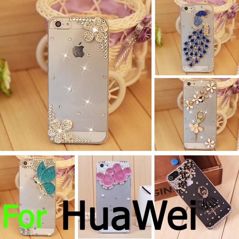 2014 New Luxury DIY 3D Bling Rhinestone Diamond Phone Case HuaWei P7 P6 3C 3X Honor 6 G610 G700 Mate 7 Y511 - BIZTURBO Direct Sale store