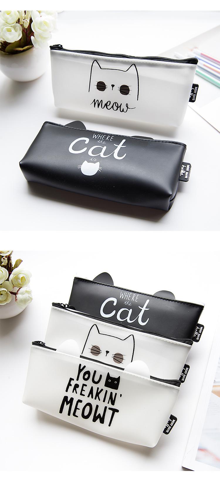 Beautiful PU Cat Makeup Case