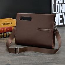 Business Bag 2019 New Fashion Men Vintage Shoulder Bags Leather Crossbody Message Retro Handbags