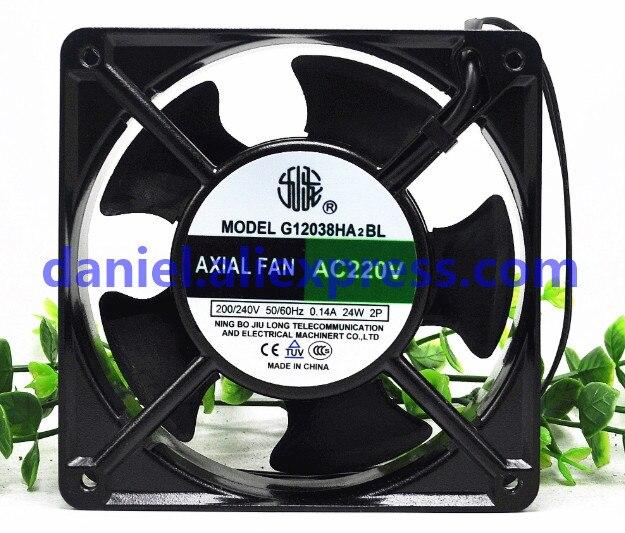 New original 18//20 G12038HA2BL W 220V 12038 120X120X38MM 12cm cabinet cooling fan silent axial fan