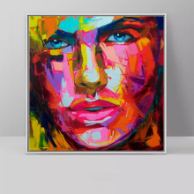 Nielly Francoise art work wall decoration oil painting Portrait face home modern Painted canvas unframed