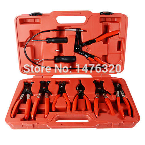 Universal Hose Clip Clamp Set Automotive Flexible Hose Pliers Kit AT2029 cable type flexible wire long reach hose clip pliers hose clamp pliers for auto vehicle car repairs tools