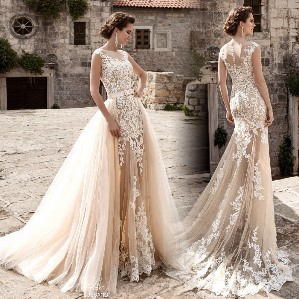 Buy robe de mariage new vintage wedding for Wedding dresses with sleeves 2017