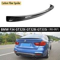 Для BMW F34 GT320i GT328i GT335i 2013 2019 спойлер заднего крыла, багажнике крылья Спойлеры из углеродного волокна 3м паста