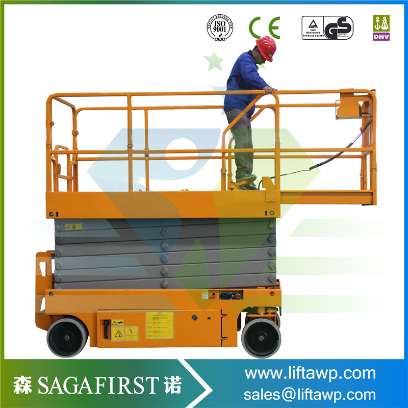 14m Battery Power Self Propelled Electric Scissor Lift