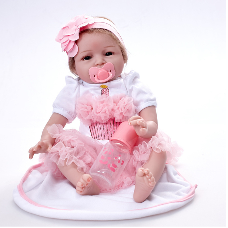 55cm Handmade Reborn Babies Dolls Realistic Reborn Baby Full Silicone Vinyl  Reborn Dolls For Girls Drop Shipping  55cm Handmade Reborn Babies Dolls Realistic Reborn Baby Full Silicone Vinyl  Reborn Dolls For Girls Drop Shipping