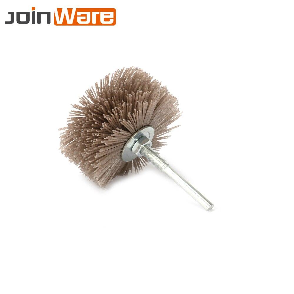 3Pcs 80MM Grinding Flower Head Abrasive Nylon Polishing Wheel Brush For Wood Furniture Mahogany 120/180/240 Grit Shank Dia 6MM