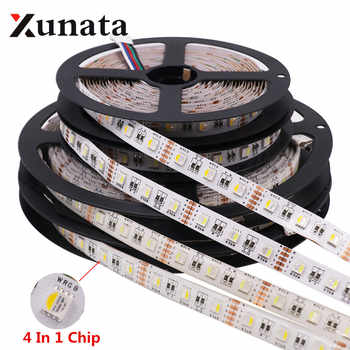 RGBW RGBWW 4 In 1 Chip LED Strip Waterproof  DC12V 24V SMD 5050 60LED/m 5m/Roll LED Strip Light Lamp For Home Decoration - DISCOUNT ITEM  25% OFF All Category