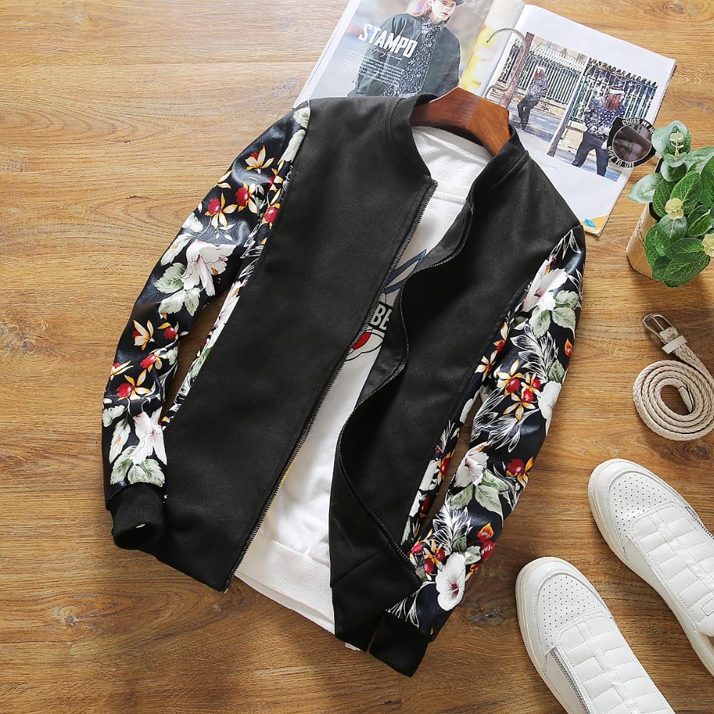 Spring Jackets Men Fashion 2018 Men Bomber Jacket Pu