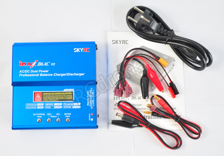 Original iMax B6AC V2 SKYRC Digital balance charger LCD display Lipo NiMh 3S battery intelligen charger skyrc d100 2 100w ac dc dual balance charger 10a charge 5a discharge nimh lipo battery charger twin channel charge