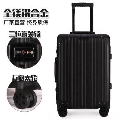 All aluminum-magnesium Alloy Rod Box Metal All Aluminum Travel Luggage Aluminum Frame Box Universal Wheel Boarding Box CD50