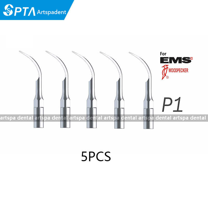 5Pieces P1 Dental Piezo Ultrasonic Scaler Tips compatible EMS Type scaling handpiece tip