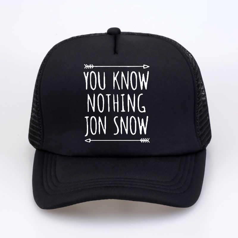 Oyun Thrones CWLSP 2018 Yaz Erkek Kadın şapka Sizin değil Biliyorum Hiçbir Şey Jon Kar Baskılı Mektup Beyzbol Kapaklar