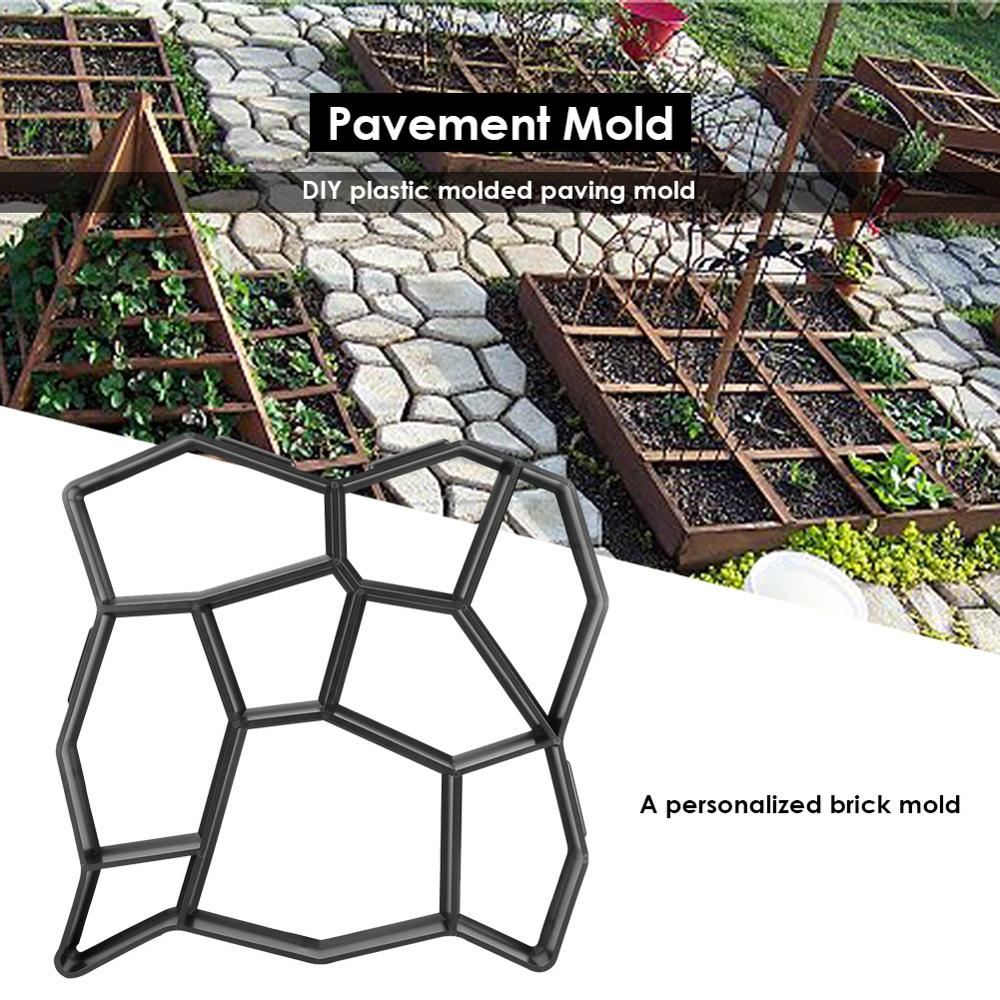 Garden Paving Molds Garden Walk Pavement Concrete Mould DIY Manually Paving Cement Brick Stone Garden Home Road Concrete Molds