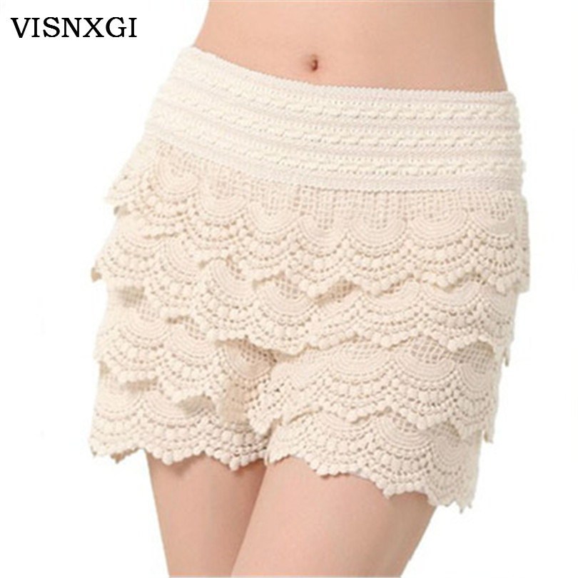 2019 New Direct Selling Loose Mid Solid Spring And Summer Slim Female Skirts Womens Clothes Lace Shorts Casual Four Short Pants