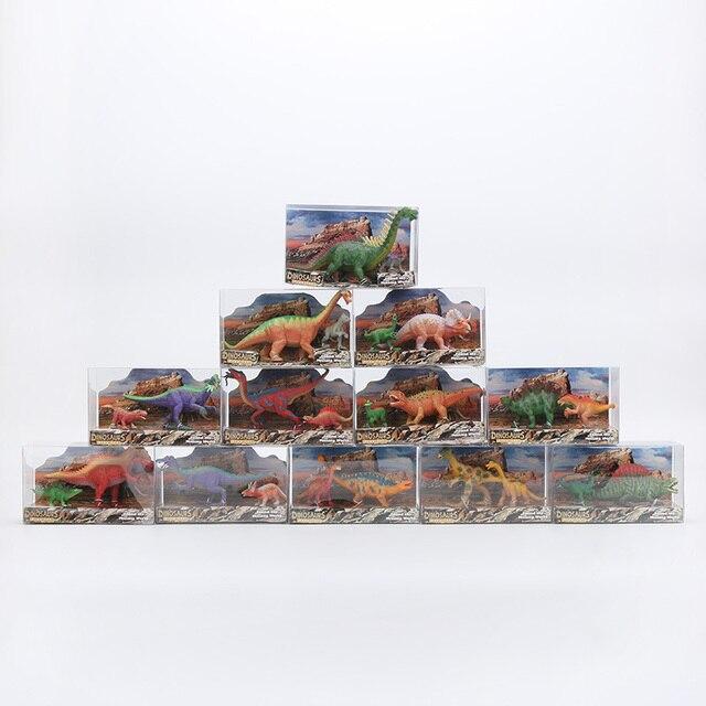 12 pçs/lote Dinossauro Brinquedos Modelo Action Figure Brinquedos Clássicos para Crianças Animais de plástico Sólido Modelos