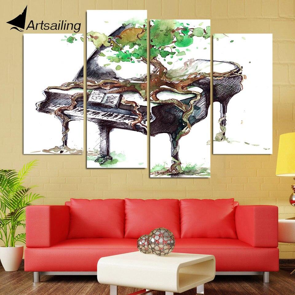 Fleur Pour Decoration Salon 1 pcs figure pop toile art mur photos pour salon salle de