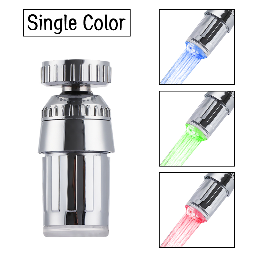 Shower Hydroelectric Power Water Tap Glow LED Faucet Temperature Sensor Light