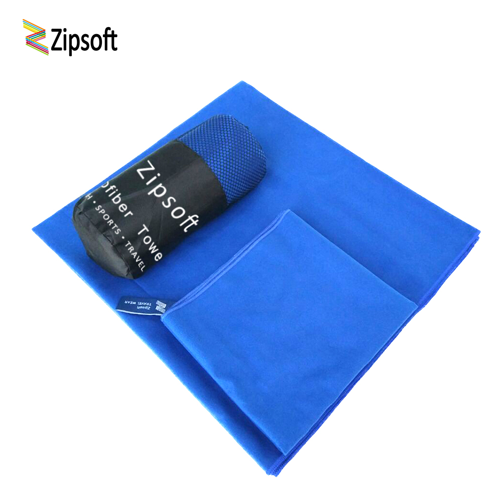 2 PCS/SET Zipsoft microfiber travel towel soft skin quick dry Super absorbent Perfect Beach towel for gym swimming yoga 2019 New