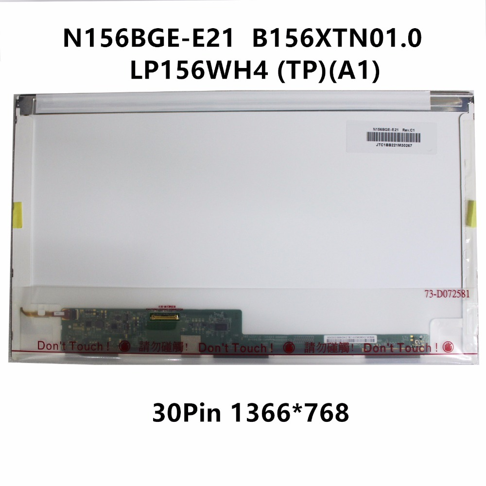 15.6'' Laptop LCD Screen Display Matrix Replacement For Acer V3-551G V3-571G N156BGE-E21 REV.C1 B156XTN01.0 LP156WH4 TPA1 30 pin битоков арт блок z 551