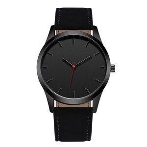 Reloj 2018 Fashion Large Dial Military Quartz Men Watch Leather Sport watches High Quality Clock Wristwatch Relogio Masculino T4(China)