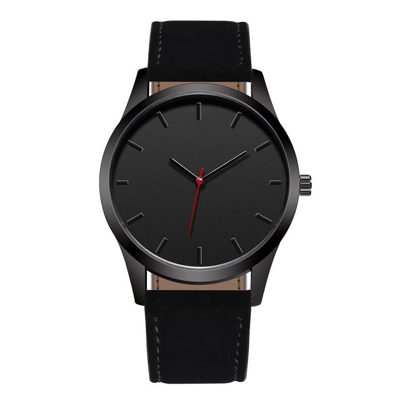 Reloj 2018 Fashion Large Dial Military Quartz Men Watch Leat