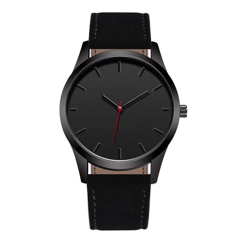 Reloj 2018 Mode Grand Cadran Militaire Quartz Hommes Montre En Cuir Sport montres Haute Qualité Horloge Montre-Bracelet Relogio Masculino T4