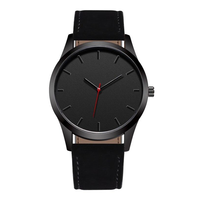 Reloj 2018 moda gran Dial militar de cuarzo Reloj de los hombres de cuero de deporte relojes de alta calidad Reloj de pulsera Reloj Masculino T4