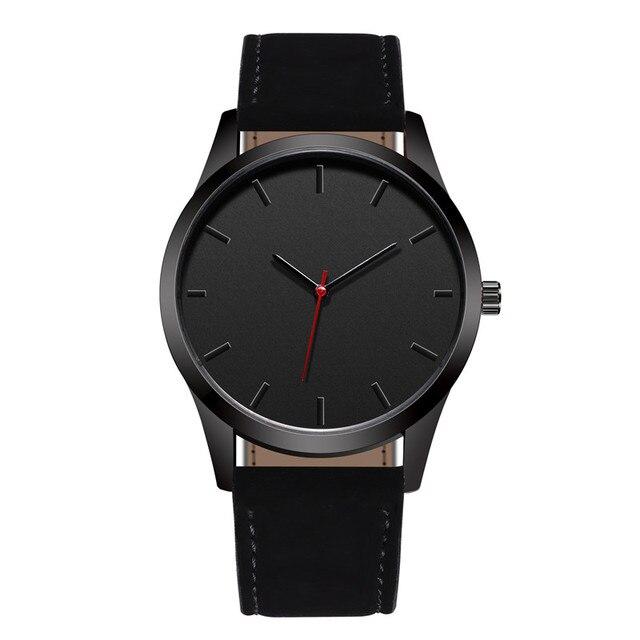 Reloj 2018 חיוג גדול אופנה צבאי ספורט שעונים באיכות גבוהה שעון קוורץ גברים שעונים עור שעוני יד Relogio Masculino T4