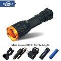 10W mini Zoom flashlight lanterna led flashlight 5 mode cree XML T6 led lamp lanterna linternas led light torch 18650 bike light