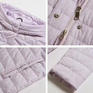 Image 5 - ICEbear 2019 nowa damska kurtka wysokiej jakości z kapturem na jesień płaszcz damski odzież bawełniana jednorzędowy średniej długości GWC19067I