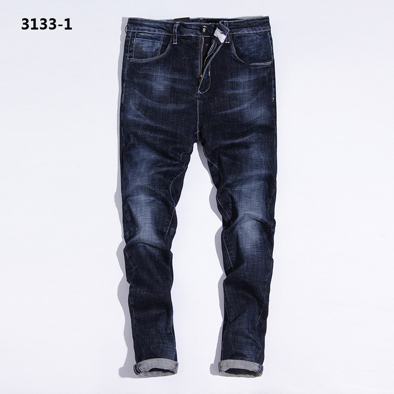 England Dark Blue Jeans Men Waterwash Denim Overalls Men Brand Clothing Mens Simple Designer Jeans Masculino Pants rtls 3133-1 napapijri guji check dark blue