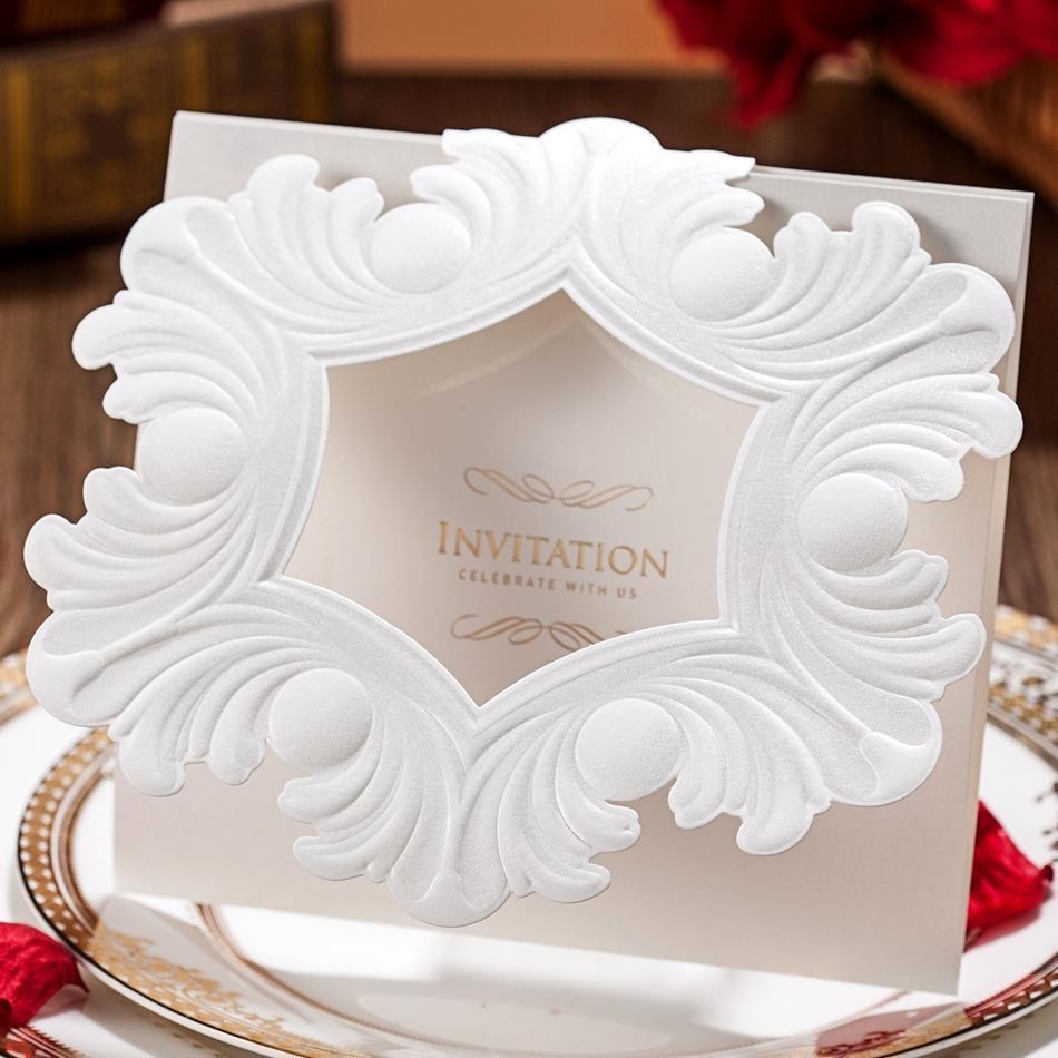 1 PCS Sample Personalized Design Embossed & Vintage White Flower ...