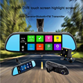 New 7 inch Special Android 4.4 Car DVR Dual Lens  Full HD 1080P Bluetooth WIFI FM Map Free Update ROM 16GBCamera Rearview mirror