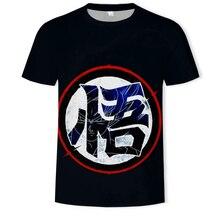 2019 Hot Dragon Ball Z T Shirts Mens Summer 3D Print Super Saiyajin Son Goku Black Good quality