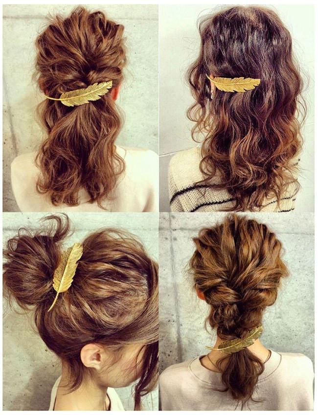 HTB1cCZ4LXXXXXXIapXXq6xXFXXXM Stylish Feather Hair Clip Statement Head Jewelry For Women in 3 Colors