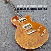 Free Shipping Wholesale Custom Shop 1959 R9 Tiger Flame Electric Guitar Standard LP Electric Guitar HOT