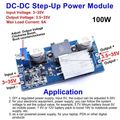 100W DC-DC Boost Converter 3-35V 12V to 3.5-35V 5V 24V 9A Power Supply Module